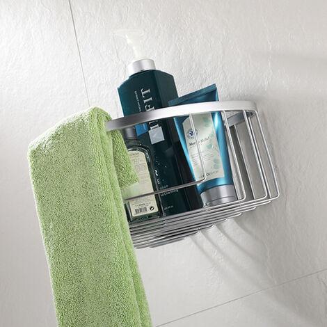 Cesta de ducha con forma triangular para esquina modelo CIE. Fabricada en aluminio con función portagel. Tiene poco peso y no se oxida. Repuestos originales garantizados Kibath