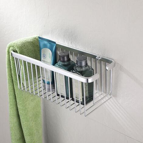 Cesta de ducha rectangular modelo SIR fabricada en aluminio de 30 cm de largo para función portagel. No se oxida. Repuestos originales garantizados Kibath
