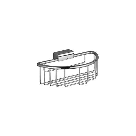 Cesta de ducha Villeroy & Boch LA FLEUR para montaje en pared, cromada, color: blanco mate - 83290970-10
