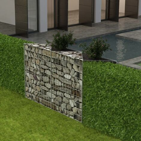 Cesta de muro de gaviones acero galvanizado 120x30x100 cm