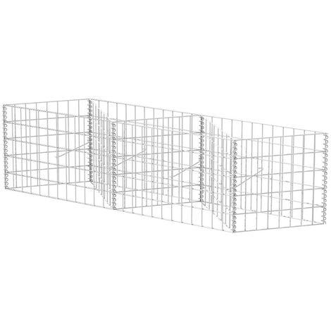 Cesta de muro de gaviones acero galvanizado 120x30x50 cm