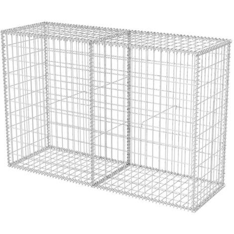 Cesta de muro de gaviones acero galvanizado 150x50x100 cm