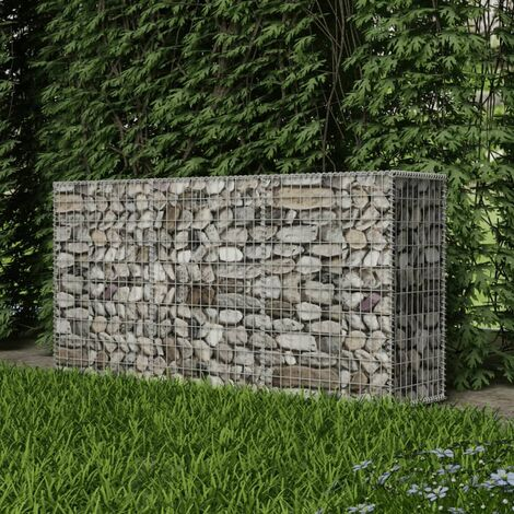 Cesta de muro de gaviones acero galvanizado 200x50x100 cm