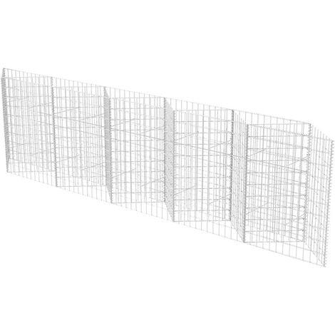 Cesta de muro de gaviones acero galvanizado 300x30x100 cm