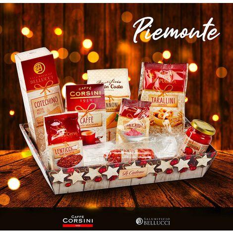 Cesta de Navidad Gourmet para empresas y particulares Café Pasta Cotechino PIEMONTE