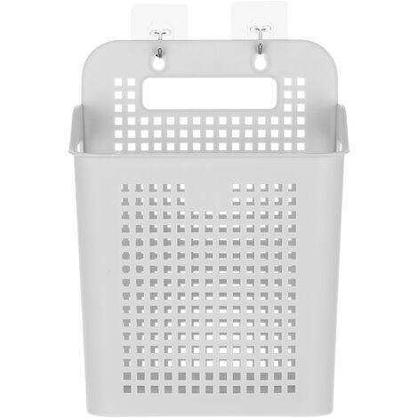 Cesta lavadero plastica con mango cestas de almacenamiento portatil Adhesivo Ganchos y, por Cocina Bano Cuarto de Lavanderia, gris