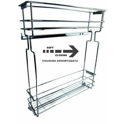 Cestelli Estraibili Per Mobili Da Cucina.Cestello Estraibile Portabottiglie Per Modulo 15 Cm