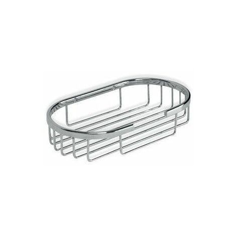 Cestillo Baño 20X11X4Cm Oval Metal Cromo Tatay