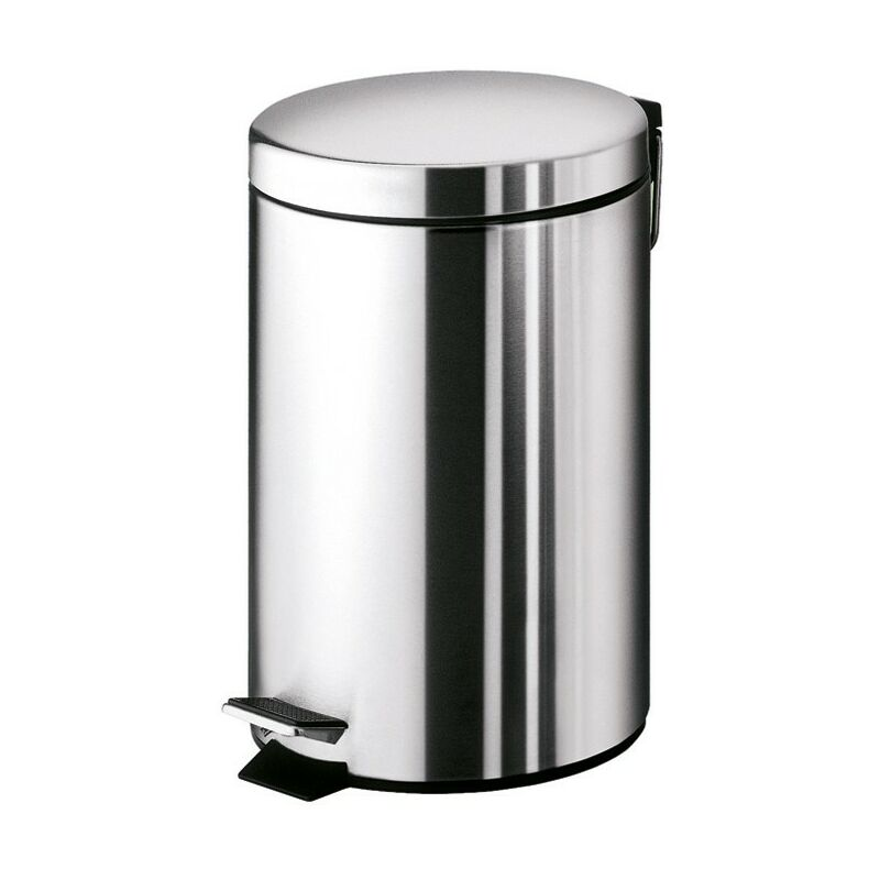Cestino porta rifiuti 7 litri in acciaio inox argenta 2409 Gedy