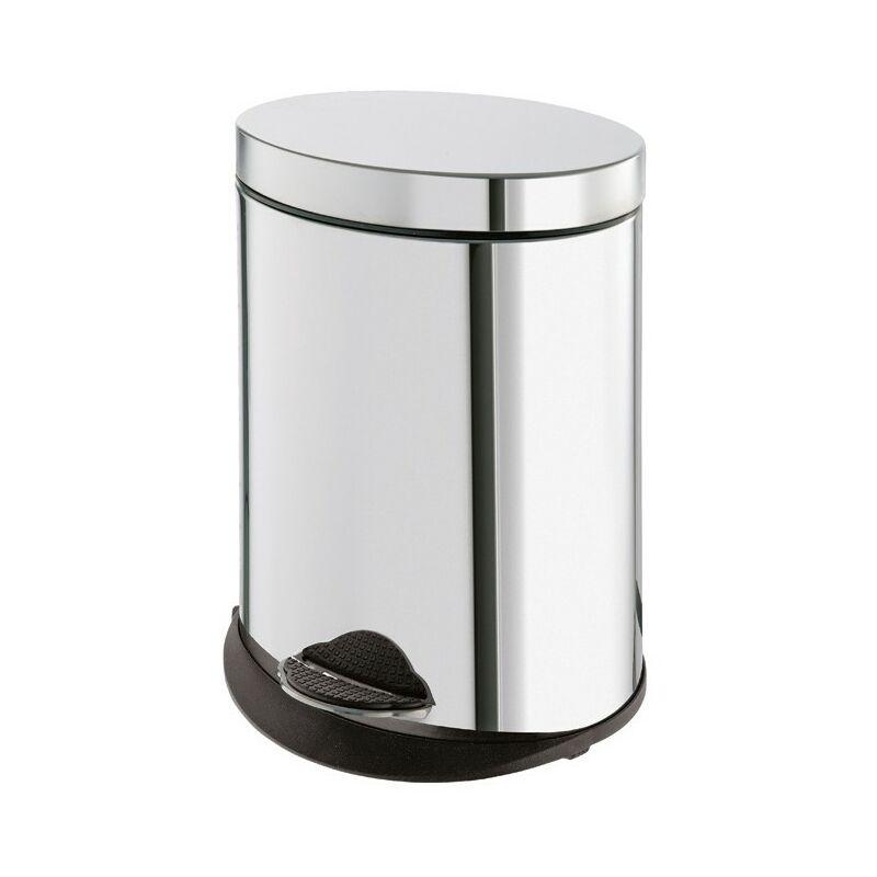 Cestino porta rifiuti ovale 5 litri in acciaio inox 2809 Gedy