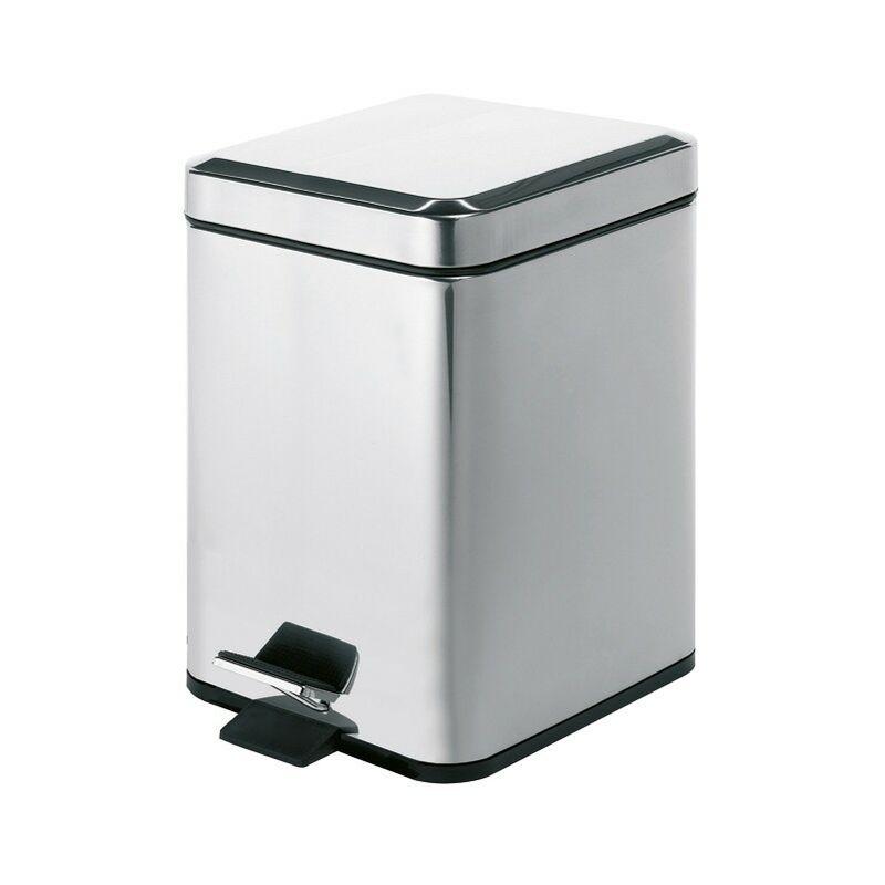 Cestino porta rifiuti quadrato 5 litri in acciaio inox argenta 2309 Gedy