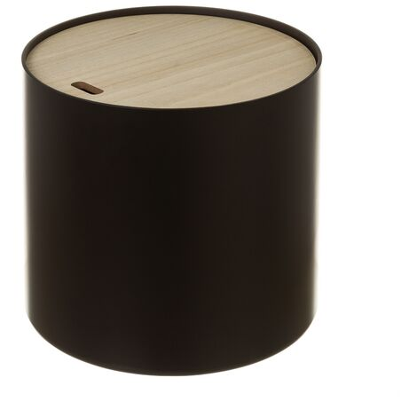 Cesto de ropa de madera negro nórdico de 35x38 cm