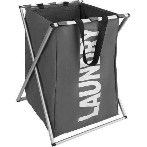 Cesto para ropa sucia individual - cesto para ropa sucia plegable, cesto con estructura de aluminio inoxidable, canasto para ropa con malla interior