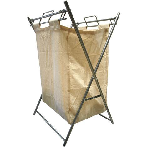 Cesto para ropa sucia plegable con estructura de aluminio 47 x 40 x 71 cm