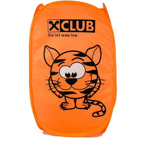 Cesto Ropa Sucia/Juguetes Infantil, 4 Modelos a elegir. Diseño de Animales, Ideal para el almacenaje del Hogar 54x35 cm Naranja