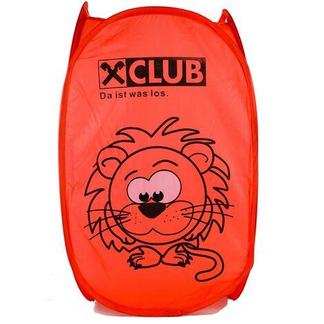 Cesto Ropa Sucia/Juguetes Infantil, 4 Modelos a elegir. Diseño de Animales, Ideal para el almacenaje del Hogar 54x35 cm Rojo