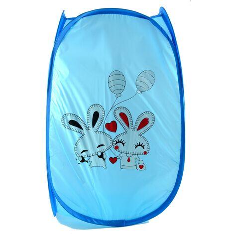 Cesto Ropa Sucia/Juguetes Infantil, 5 Modelos a elegir. Diseño de Animales, Ideal para el almacenaje del Hogar 51,5x34 cm Azul