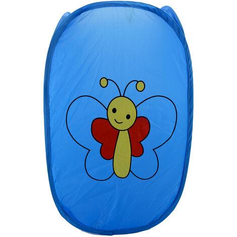 Cesto Ropa Sucia/Juguetes Infantil, 5 Modelos a elegir. Diseño de Animales, Ideal para el almacenaje del Hogar 59x35 cm Azul oscuro