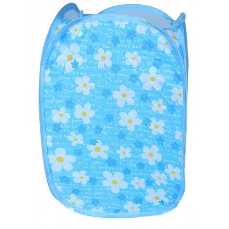 Cesto Ropa Sucia/Juguetes Infantil, 5 Modelos a elegir. Diseño Floral, Ideal para el almacenaje del Hogar 48x25,5 cm Azul