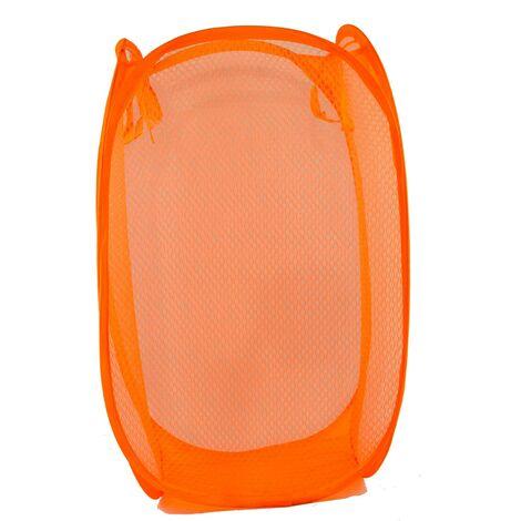 Cesto Ropa Sucia/Juguetes Infantil, 6 Modelos a elegir. Diseño Transparente, Ideal para el almacenaje del Hogar 55x34 cm Naranja