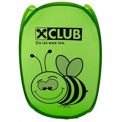 Cesto Ropa Sucia/Juguetes Infantil, de color Verde con Diseño de Abeja. Ideal para el almacenaje del Hogar 54x35 cm