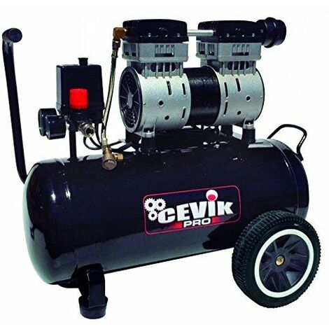 Cevik CA-PRO24SILENT compresor Silencioso, Negro