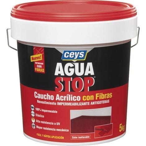 CEYS AGUA STOP CAUCHO FIBRAS 5 KG. GRIS