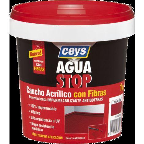 CEYS AGUASTOP CAUCHO FIBRAS 1 KG. GRIS