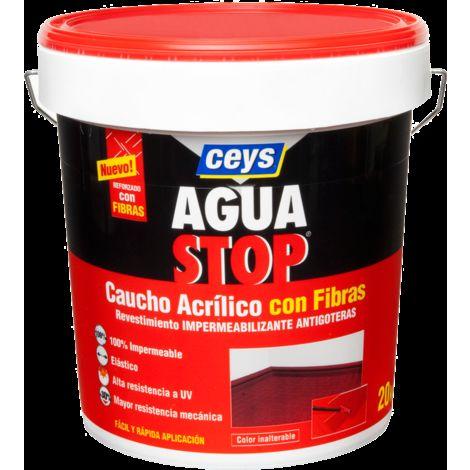 CEYS AGUASTOP CAUCHO FIBRAS 20 KG. GRIS
