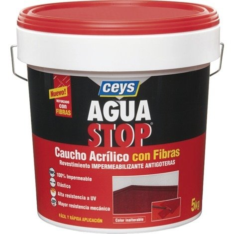 CEYS AGUASTOP CAUCHO FIBRAS 5 KG. BLANCO