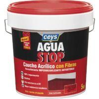 CEYS AGUASTOP CAUCHO FIBRAS 5 KG. GRIS