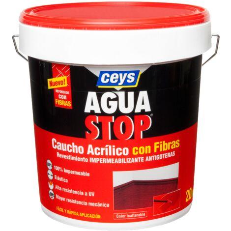 CEYS AGUASTOP CAUCHO FIBRAS 5 KG. TERRACOTA