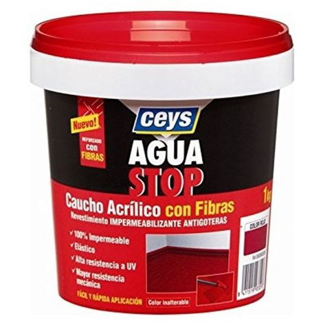 CEYS AGUASTOP CAUCHO FIBRAS .5 KG.TERRACOTA