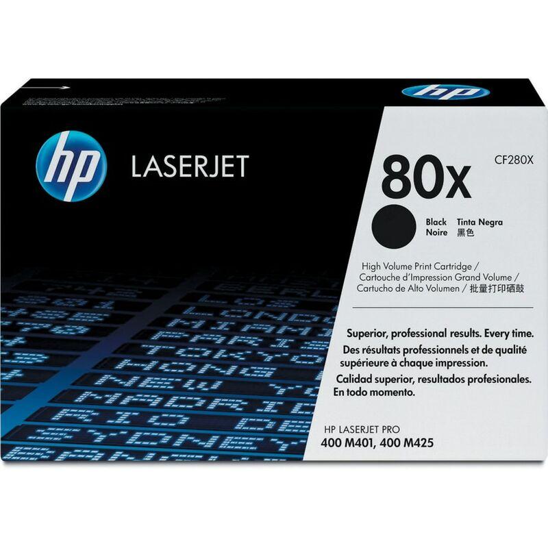 Image of Hewlett Packard CF280X Black Printer Cartridge (HP80X)