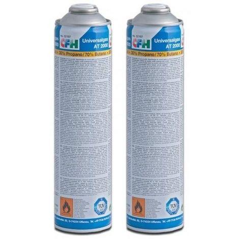 CFH 2 x Cartouche de gaz universelle pour désherbeur à gaz