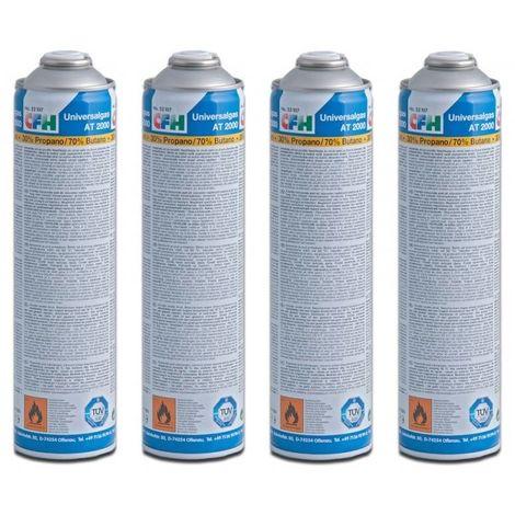 CFH 4 x Cartouche de gaz universelle pour désherbeur à gaz