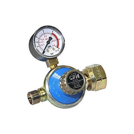 CFH DR115 Régulateur en continu pour gaz propane 1 à 4 bar avec manomètre