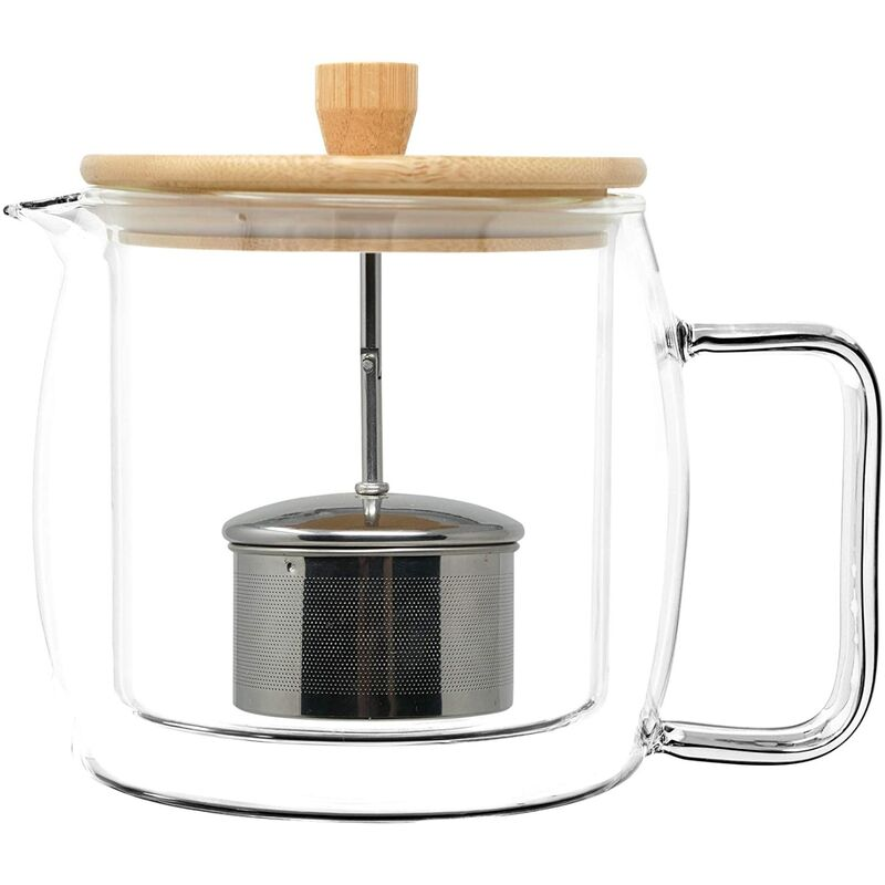 Image of CFL-680B ThermoShield Double Walled Insulated Teapot by - Filterlogic