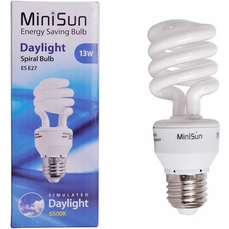 Cfl Daylight Spiral Light Bulb Energy Saving Lightbulb 6500K