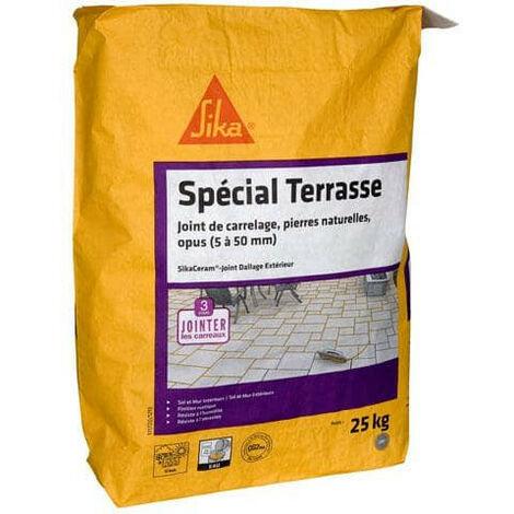 CG2WA - SIKA SikaCeram Terrace Tile Grout External Floor Grout - Grey - 25kg
