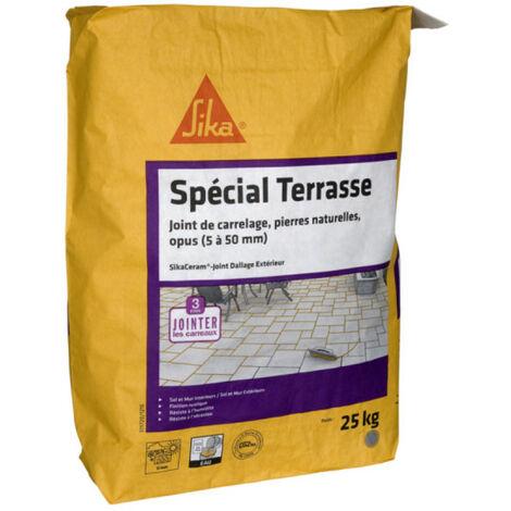 CG2WA - SIKA SikaCeram Terrace Tile Grout Lechada para suelos exteriores - Your Stone - 25kg - Gris