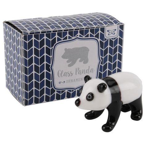 CGB Giftware Artisan Glass Panda (One Size) (White/Black)