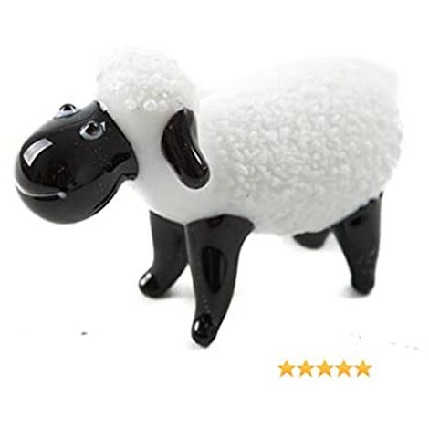 CGB Giftware Artisan Glass Sheep (One Size) (White/Black)