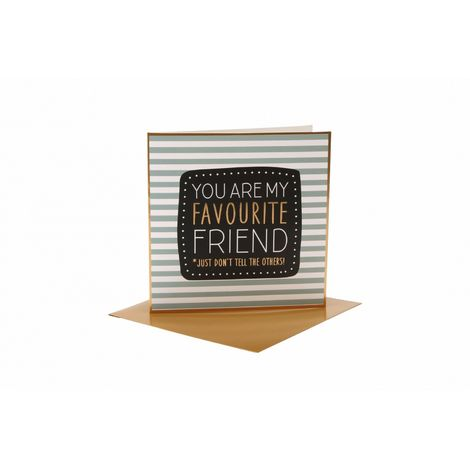 CGB Giftware You Are My Favourite Friend Card (One Size) (Blue/Black/Gold)