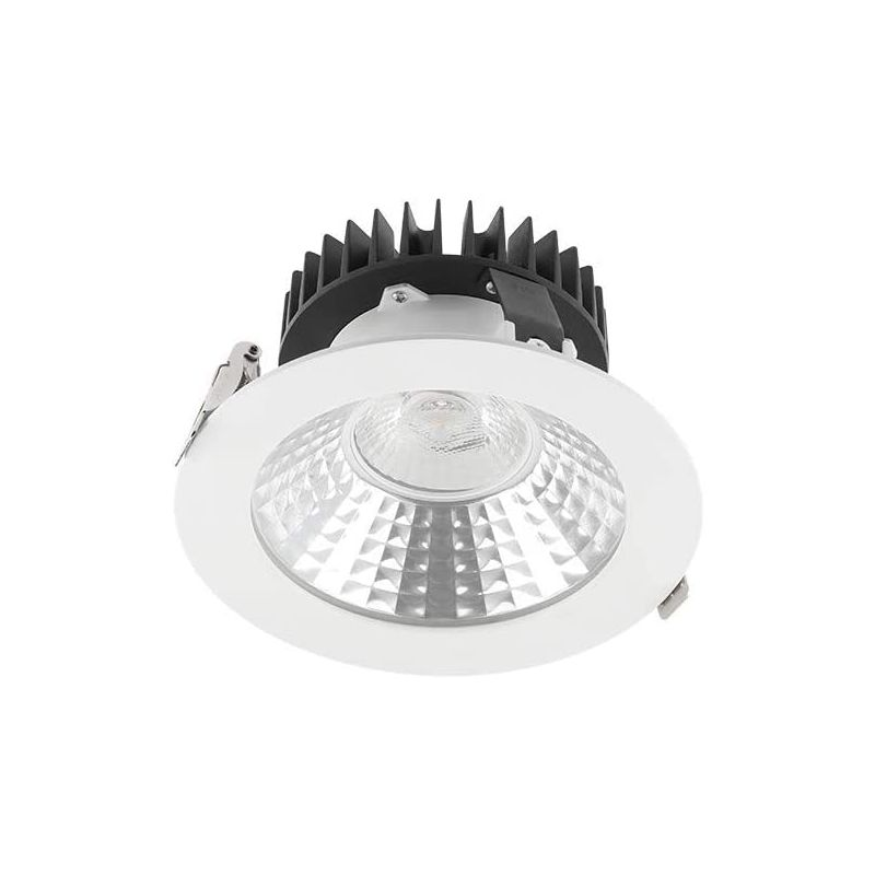 Image of CGC 10W Round Recessed LED Commercial Downlight 110mm Diameter 4000k Natural White Colour Temperature 800lm Lumen Output Bar Shop Office Restaurant