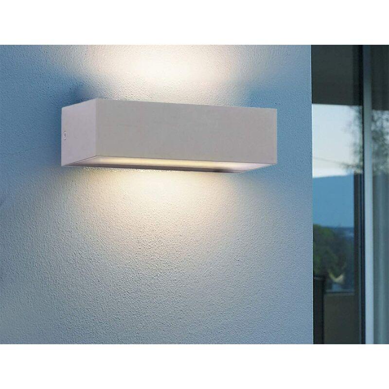 Image of CGC 12W, 600 Lumens Indoor or Outdoor Grey Up & Down Rectangular LED Wall Light 3000k Warm White Colour Temperature Porch Door Patio Garden - CGC