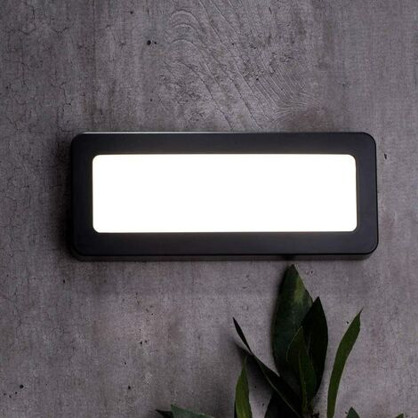 CGC Anthracite Grey LED Brick Light 4000k Natural White LED 3W 280lm Polycarbonate Weatherproof Indoor Outdoor Garden Patio Door Garage Porch Drive Way Steps Sleepers IP44 Mains Power 240V