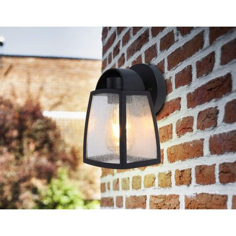 CGC Black Wall Lantern Traditional and Contemporary Design E27 Standard Screw Lampholder Garden Porch Patio Door Outdoor Wall Light