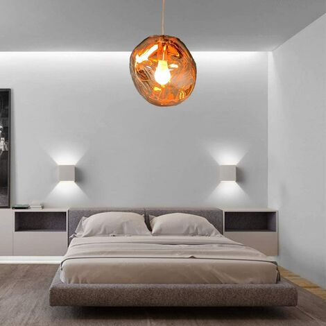 CGC Copper Rose Gold Bubble Pendant Ceiling Light With Matching Pendant Base