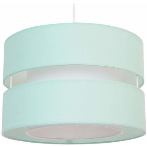CGC Duck Egg / Green / Blue 2 Two Tier Layer Shade 30cm Ceiling Pendant Table Lamp Bedside Bedroom Lounge Hallway Kitchen